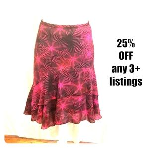 Fun and flowy color burst print vintage ruffle